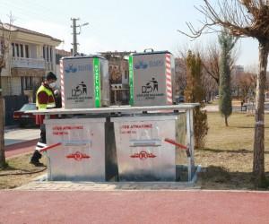 Elazığ'da yer altı çöp konteynerleri yaygınlaşıyor