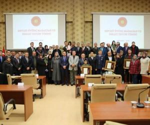 Kütahya'da 7 şehit ailesi ile 3 gaziye Devlet Övünç Madalyası ve Beratı verildi