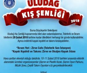 'Uludağ Kış Şenliği' 10-11 Şubat'ta yapılacak