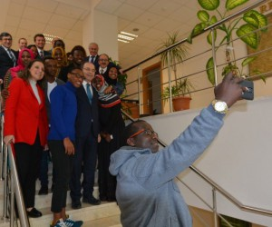 YÖK Üyesi Rahmi Er Düzce Üniversitesi'ni ziyaret etti