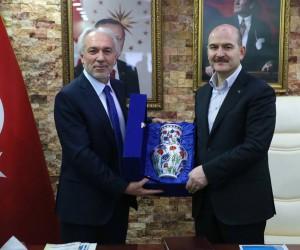 Bakan Süleyman Soylu, Başkan Kamil Saraçoğlu'nu ziyaret etti