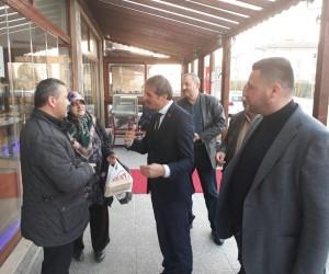 Başkan Alemdar Beşköprü'de esnaflara misafir oldu