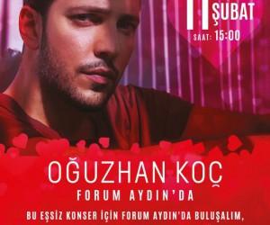 Forum Aydın'dan Oğuzhan Koç'la erken Sevgililer Günü sürprizi