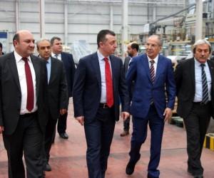 Vali Büyükakın'dan Osmaneli OSB'de faaliyet gösteren fabrikalara ziyaret