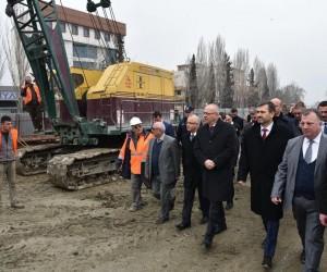 Başkan Ergün Salihli'de köprülü kavşak çalışmasını inceledi