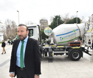 Çevreci beton mikserleri Türkiye'de ilk olarak İzmit'te kullanılıyor