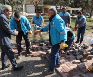 Demirkol, Şehit Muhammed Cihangir parkında incelemelerde bulundu