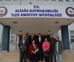 Gazetecilerden yeni Emniyet Müdürüne ziyaret