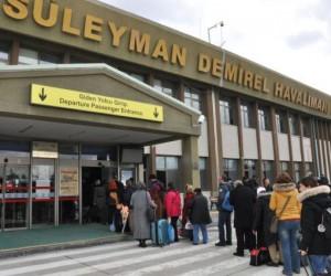 Süleyman Demirel Havalimanı'ndan yılın ilk ayında 8 bin 27 yolcu seyahat etti