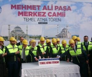 Yeni Mehmet Ali Paşa Merkez Camii'nin temeli atıldı