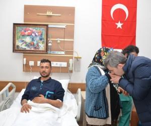 Afrin'de yaralanan Uzman Çavuş Talat Yıldız memleketine getirildi