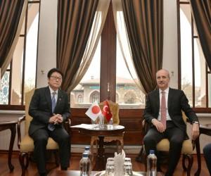Bakan Kurtulmuş, Japonya Devlet Bakanı Matsuyama ile bir araya geldi