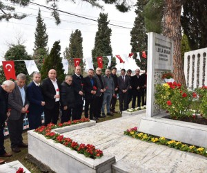 Leyla Atakan ve arkadaşları mezarı başında anıldı