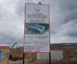 Kula'nın yeni devlet hastanesinde inşaat devam ediyor