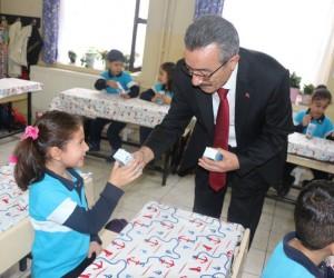 Marmaris'te Okul Sütü dağıtımı yapıldı