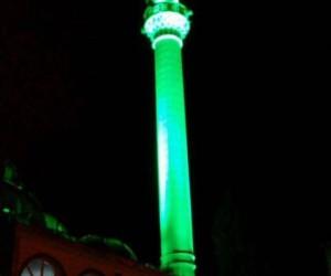 Bayırköy Beldesi cami minaresi aydınlatma çalışmaları sona erdi