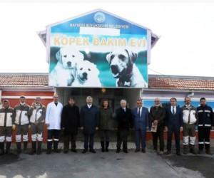 Vali Süleyman Kamçı, Kayseri Geçici Köpek Bakımevinde incelemelerde bulundu