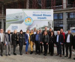 Mezitli'de daire müdürleri projeleri yerinde inceledi