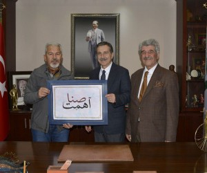 Hattat İpek'ten, Başkan Ataç'a ziyaret