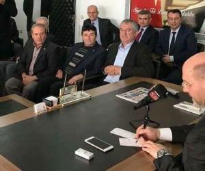 Başkan Şahan ve muhtarlardan Çetinbaş'a 'hayırlı olsun' ziyareti