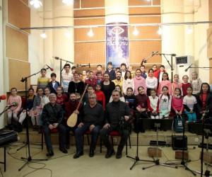 TRT Erzurum Radyosu Türk Halk Müziği Çocuk Korosu 2018'in ilk canlı yayınını gerçekleştirdi
