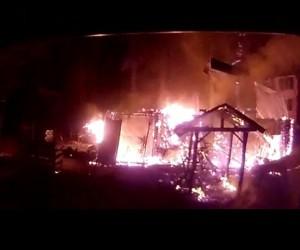 Balık tesisi alev alev yandı