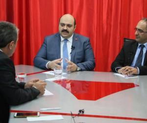 """Aziziye Belediye Başkanı Muhammed Cevdet Orhan, """"Biz Bize Erzurum"""" programına konuk oldu"""