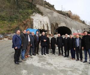 Salarha Tüneli'nin yüzde 70'i, Isırlık Mesire Alanı'nın ise 1. etabı tamamlandı