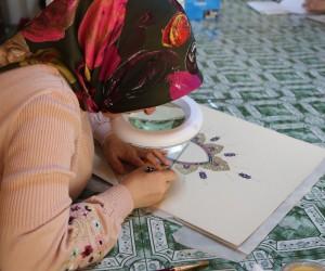 Efeler halkı Tezhip sanatı kursunu çok sevdi