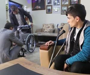 Engelli deneğinden tekerlekli sandalye yardımı