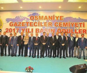Osmaniye Gazeteciler Cemiyeti Basın Ödülleri sahiplerini buldu