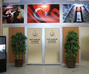 Şehit yakınları ve gaziler için hastanede irtibat bürosu açıldı