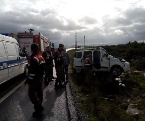 Kontrolden çıkıp beton direğe çarpan sürücü hayatını kaybetti