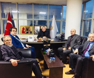 İstanbul Bilecikliler Derneği Başkanı Tepe ve AK Parti İl Başkanı Karabıyık bir araya geldi