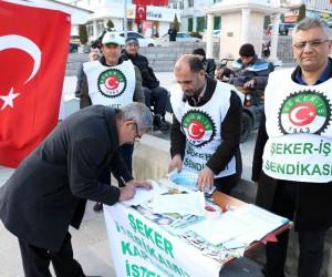 Yozgat Şeker Fabrikası'nın özelleştirilmemesi için imza kampanyası başlatıldı