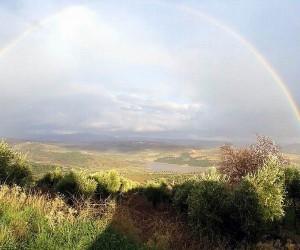 Kilis'te seyirlik gök kuşağı