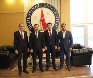 Çavdarhisar Protokolü Rektör Remzi Gören'i ziyaret etti