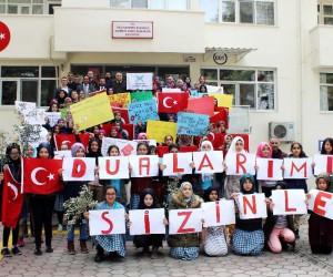 İmam Hatipli kız öğrenciler Askerlik Şubesinde