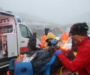 Bolu Dağı'nda kaza: 2 yaralı