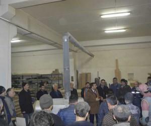 Hasan Eroğlu emekçiler ile bir araya geldi