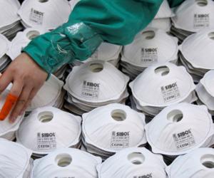 İnegöl'de ki maskeler Çin'e satılıyor