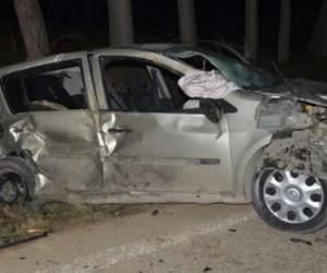 Kurşunlu yolunda kaza 1 ölü 3 yaralı