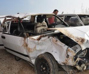İnegöl'de trafik kazası 1 ölü 4 yaralı