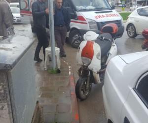 İnegöl'de yağmurla gelen kaza