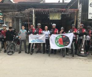 Konya'dan İnegöl'e bisikletlerle geldiler