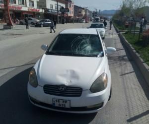 Alanyurt yolunda kaza 1 yaralı