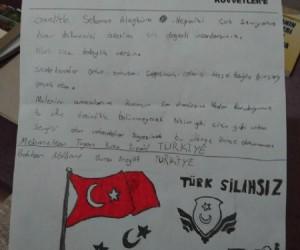 İnegöl'den Afrin'e yüzlerce mektup