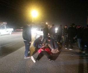 Kozluca yolunda kaza 2 yaralı