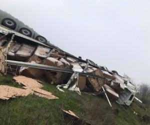 Ümitalan rampasında kaza 1 yaralı