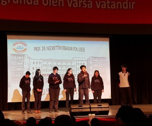 Fen Lisesi'nden Necmettin Erbakan'ı anma etkinliği
